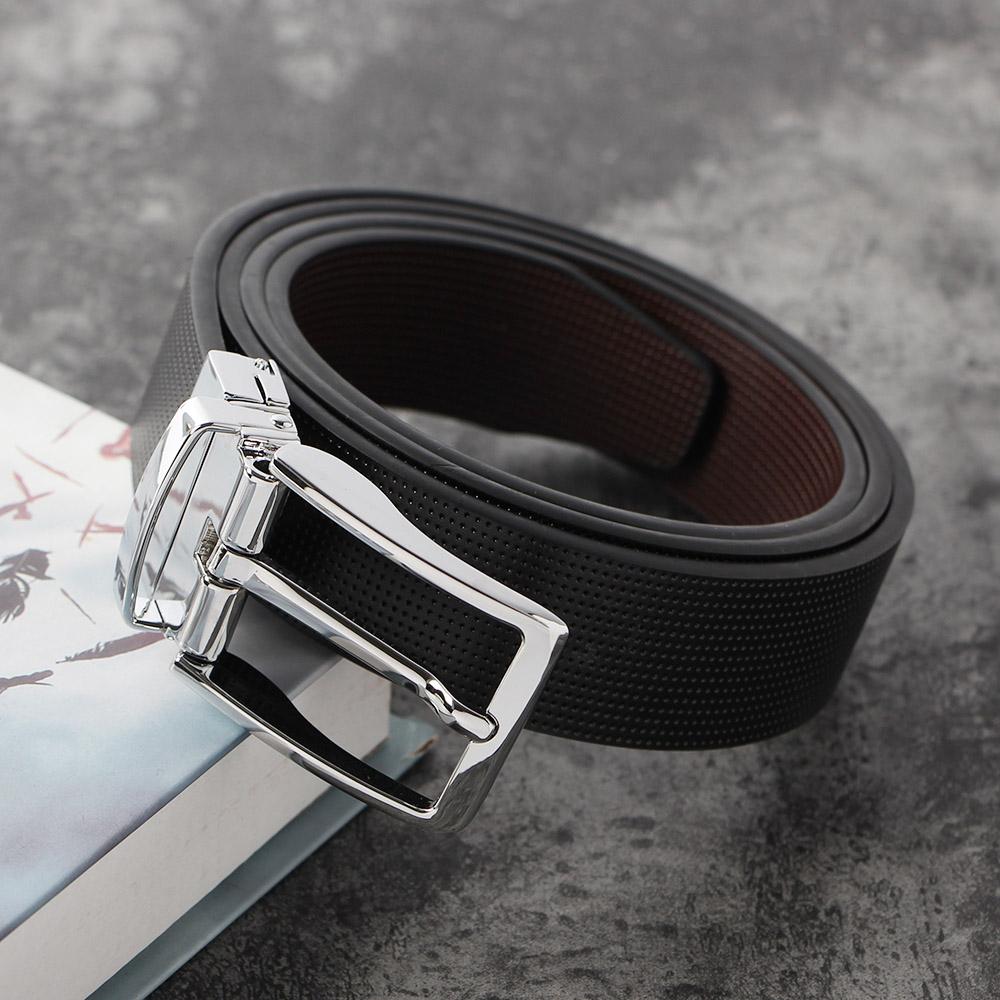 턴오버 도트 양면 가죽벨트(블랙+브라운) (115cm) [제작 대량 도매 로고 인쇄 레이저 마킹 각인 나염 실크 uv 포장 공장 문의는 네이뽕]