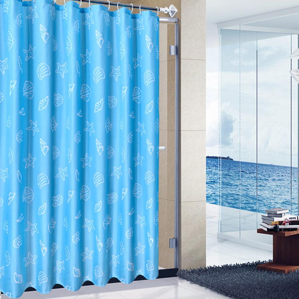 홈카터 일러스트 샤워커튼(블루) (200cmx200cm) [제작 대량 도매 로고 인쇄 레이저 마킹 각인 나염 실크 uv 포장 공장 문의는 네이뽕]