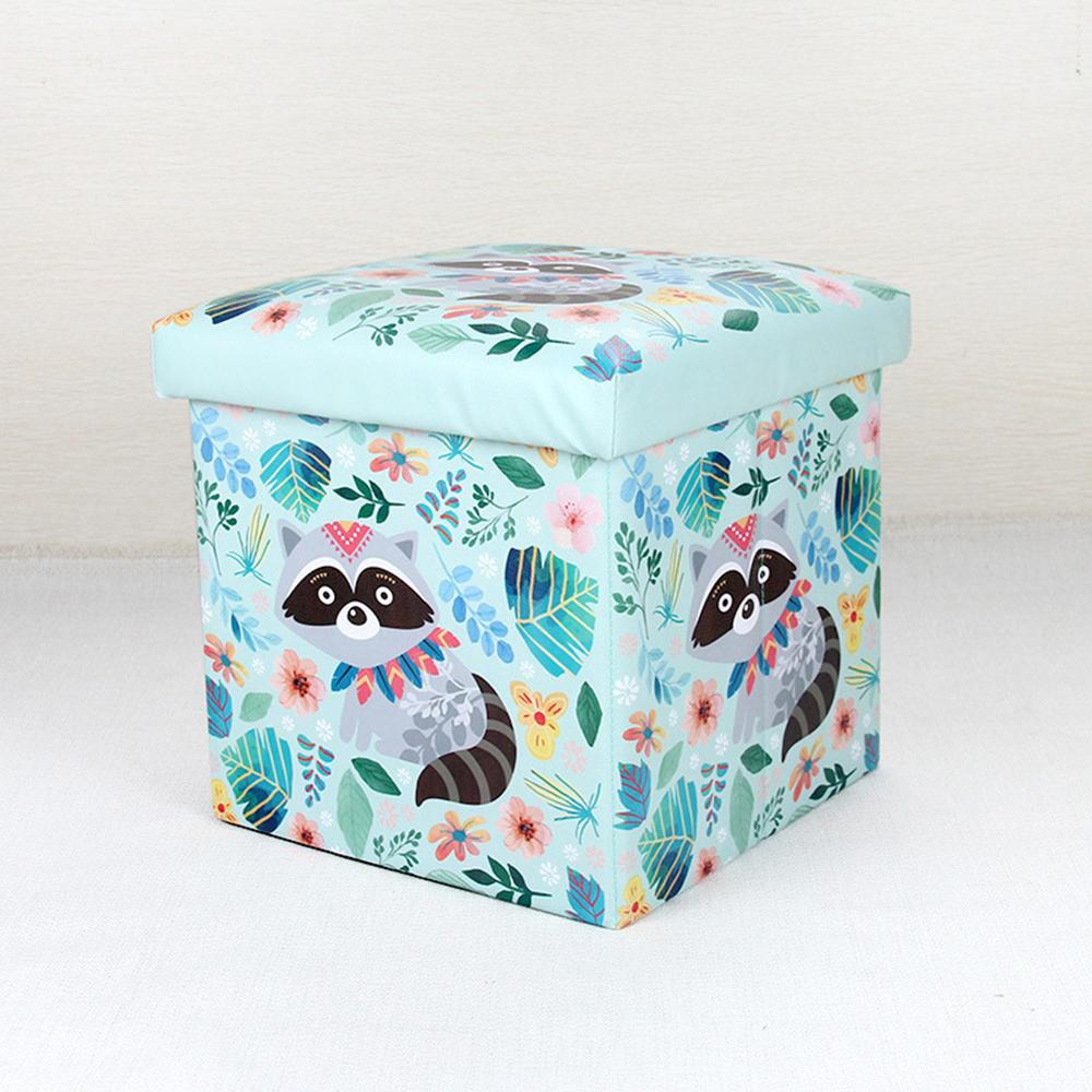 스툴스 너구리 수납 의자 [제작 대량 도매 로고 인쇄 레이저 마킹 각인 나염 실크 uv 포장 공장 문의는 네이뽕]