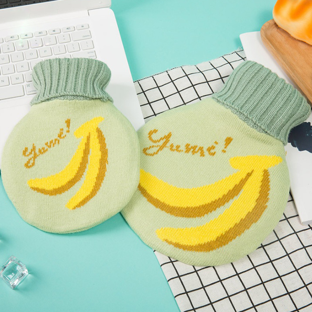 1L 바나나 원형 보온 물주머니 [제작 대량 도매 로고 인쇄 레이저 마킹 각인 나염 실크 uv 포장 공장 문의는 네이뽕]