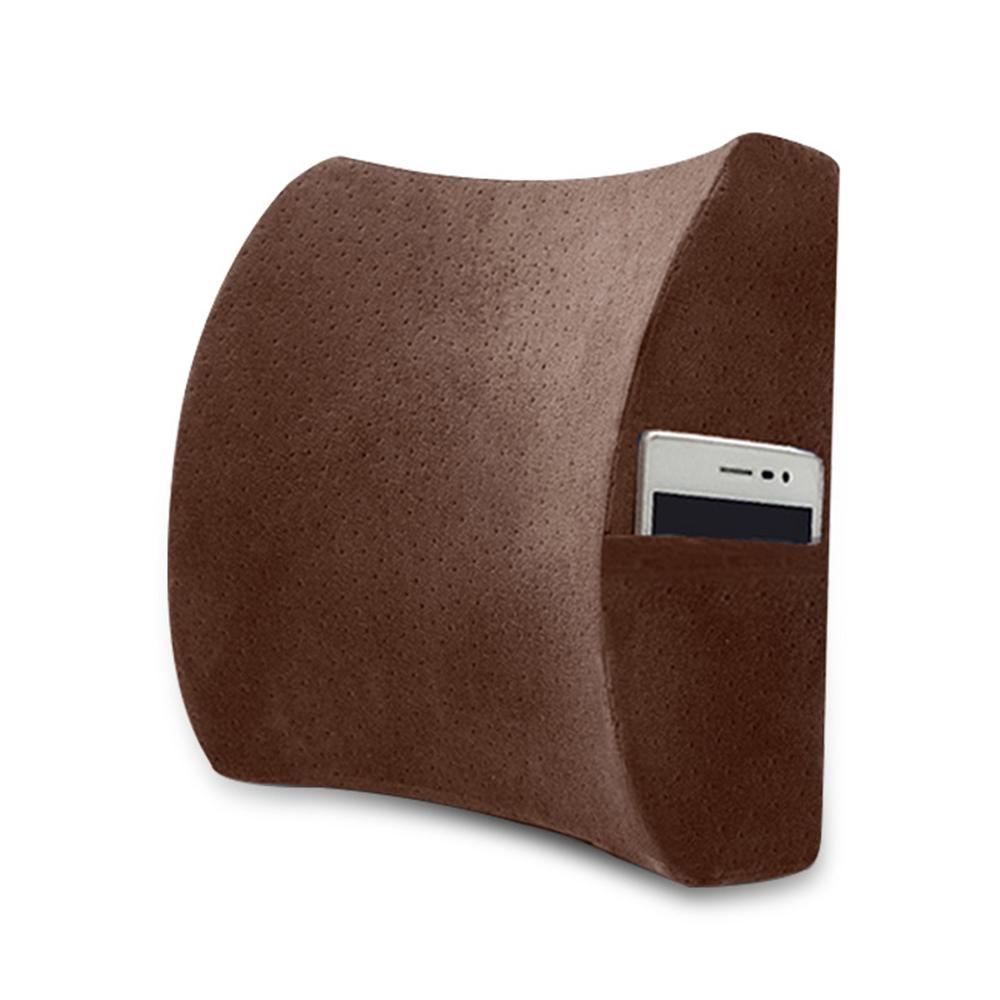레두 메모리폼 포켓 허리 쿠션(브라운) [제작 대량 도매 로고 인쇄 레이저 마킹 각인 나염 실크 uv 포장 공장 문의는 네이뽕]