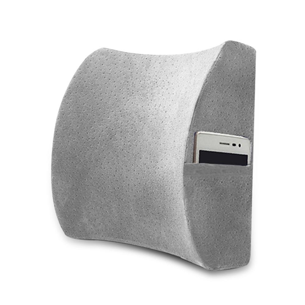 레두 메모리폼 포켓 허리 쿠션(그레이) [제작 대량 도매 로고 인쇄 레이저 마킹 각인 나염 실크 uv 포장 공장 문의는 네이뽕]