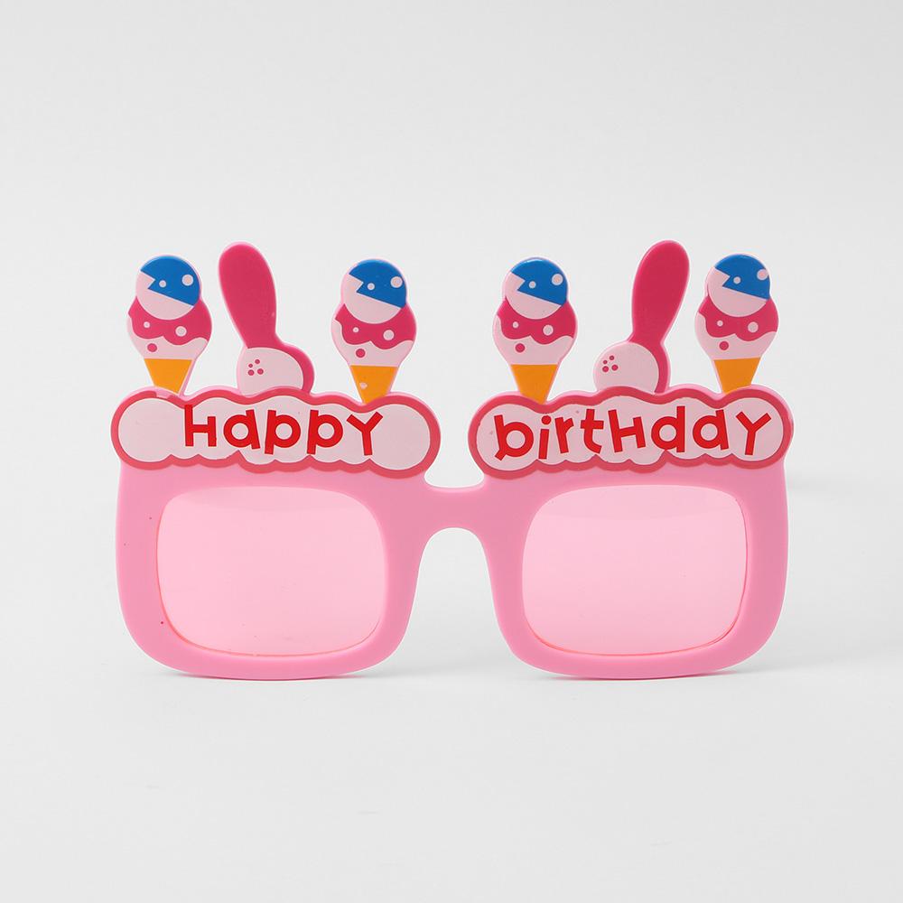 아이스크림 생일 파티 안경(핑크) [제작 대량 도매 로고 인쇄 레이저 마킹 각인 나염 실크 uv 포장 공장 문의는 네이뽕]