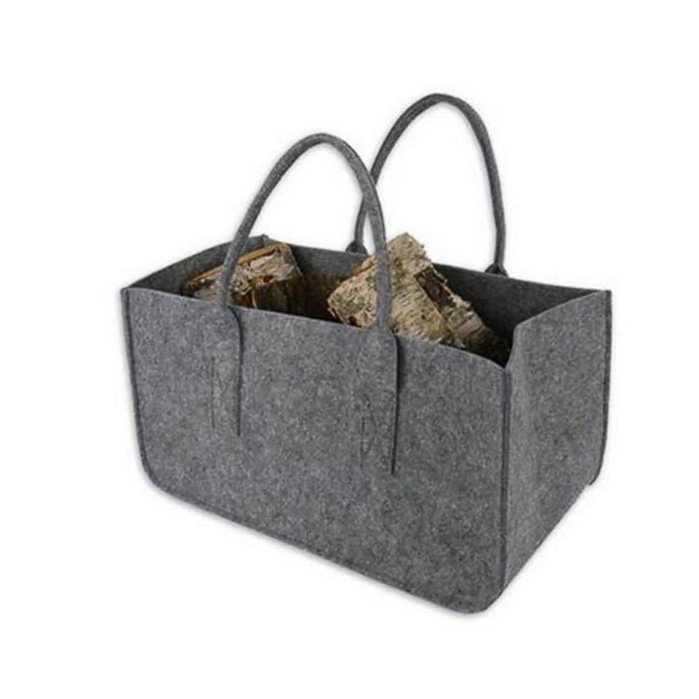 펠트 대형 수납 가방(그레이) [제작 대량 도매 로고 인쇄 레이저 마킹 각인 나염 실크 uv 포장 공장 문의는 네이뽕]