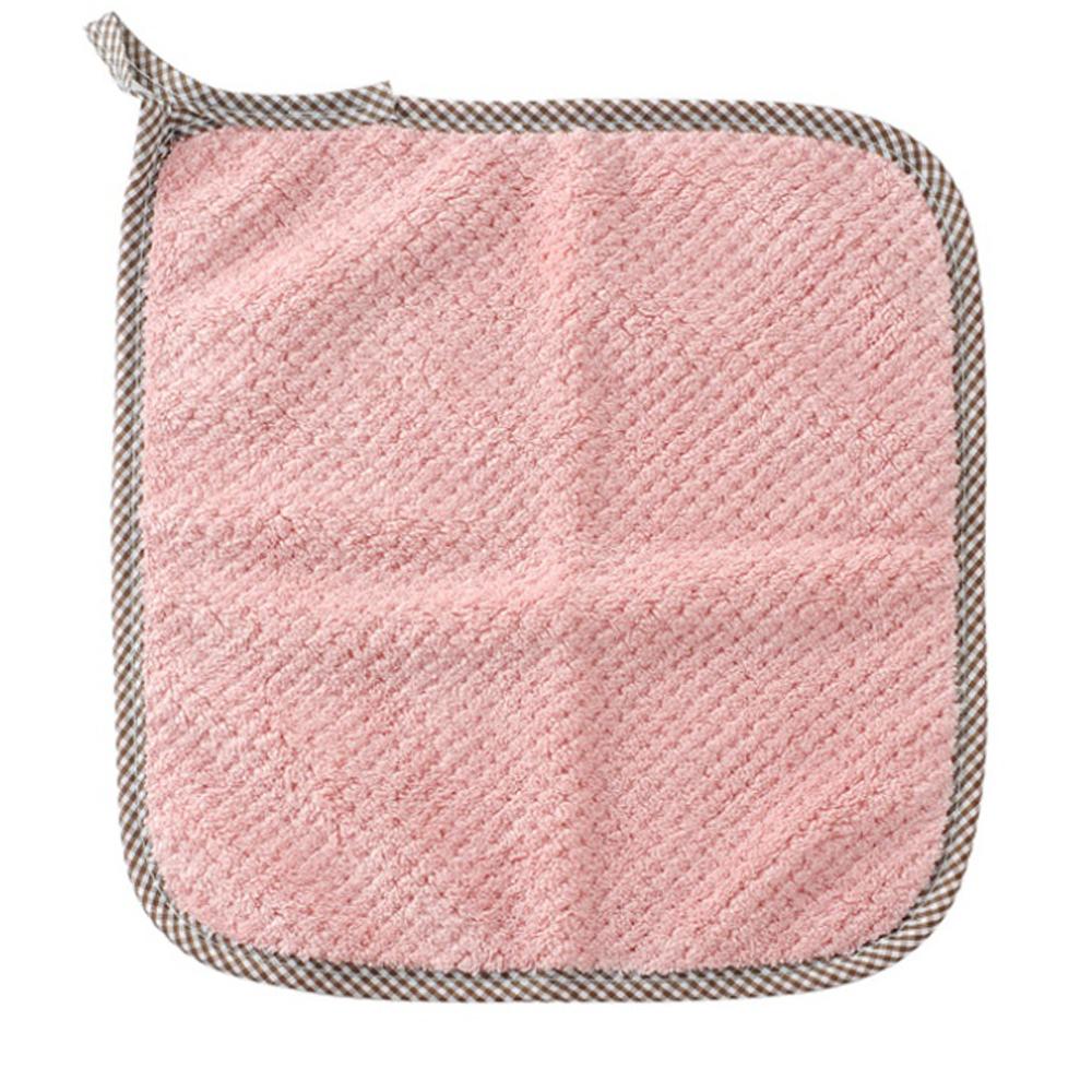 2p 고리형 주방 핸드타월(핑크) [제작 대량 도매 로고 인쇄 레이저 마킹 각인 나염 실크 uv 포장 공장 문의는 네이뽕]