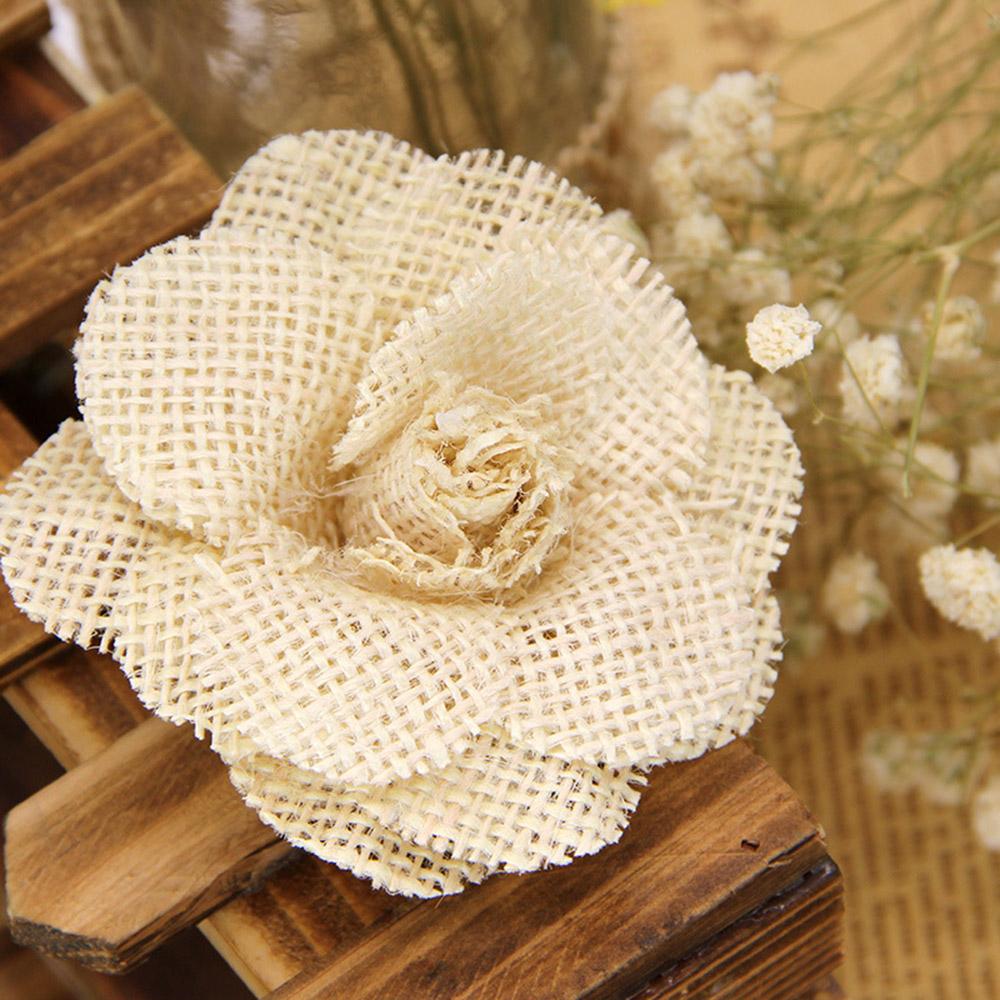 DIY 린넨 꽃(베이지) [제작 대량 도매 로고 인쇄 레이저 마킹 각인 나염 실크 uv 포장 공장 문의는 네이뽕]