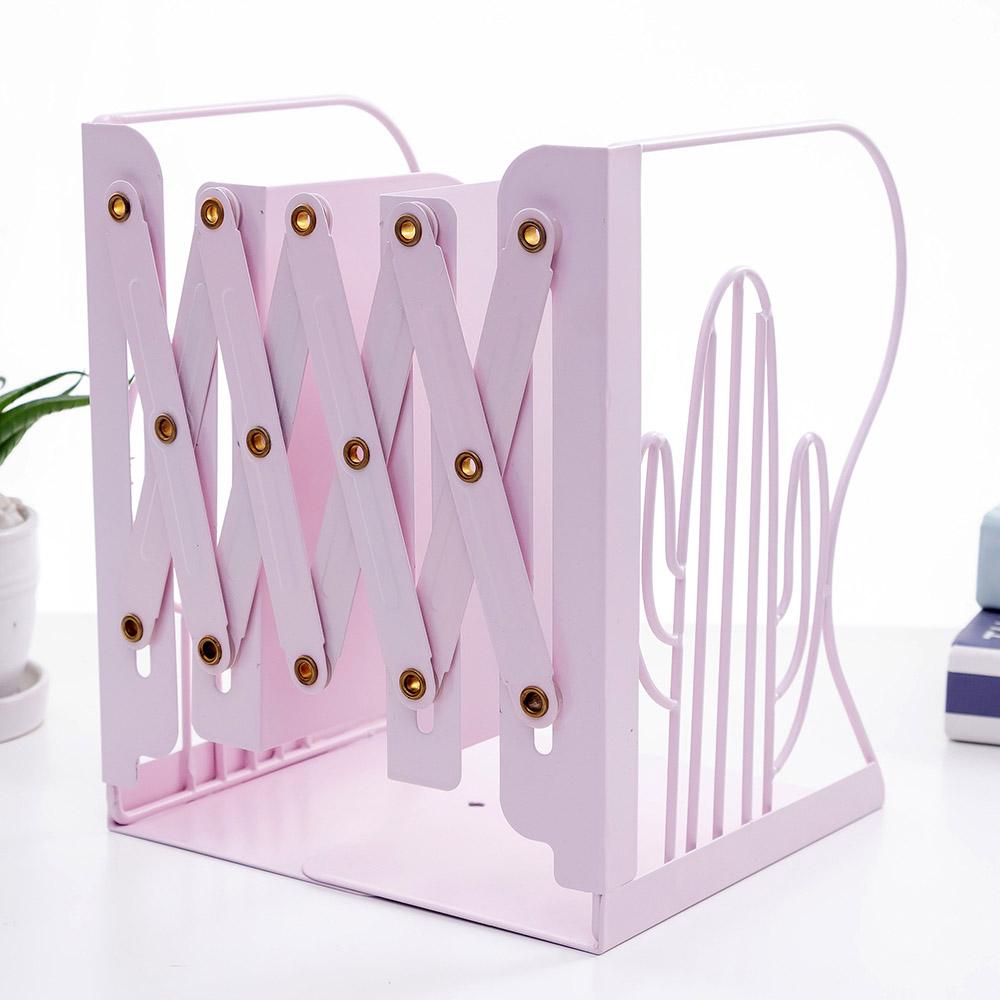 온달 선인장 접이식 책꽂이(핑크) [제작 대량 도매 로고 인쇄 레이저 마킹 각인 나염 실크 uv 포장 공장 문의는 네이뽕]