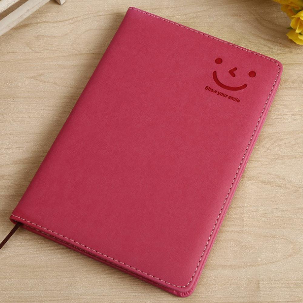 스마일 다이어리 노트(핑크) [제작 대량 도매 로고 인쇄 레이저 마킹 각인 나염 실크 uv 포장 공장 문의는 네이뽕]