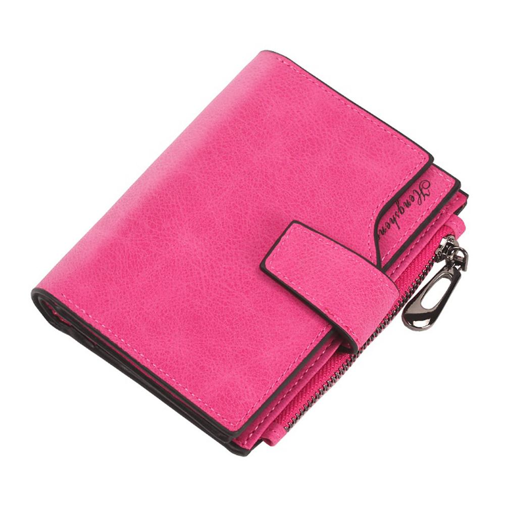 카드수납킹 여성 반지갑(핑크) [제작 대량 도매 로고 인쇄 레이저 마킹 각인 나염 실크 uv 포장 공장 문의는 네이뽕]