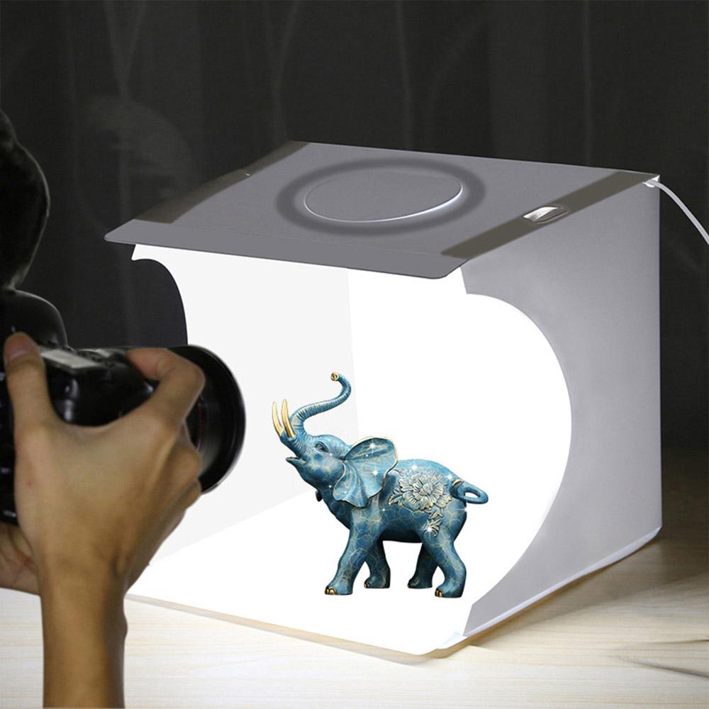 포터블 LED 포토박스(원형라이트) (22x23cm) [제작 대량 도매 로고 인쇄 레이저 마킹 각인 나염 실크 uv 포장 공장 문의는 네이뽕]