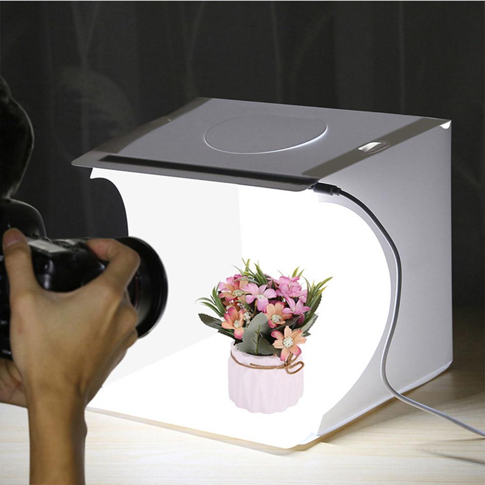 포터블 LED 포토박스(직선라이트) (22x23cm) [제작 대량 도매 로고 인쇄 레이저 마킹 각인 나염 실크 uv 포장 공장 문의는 네이뽕]