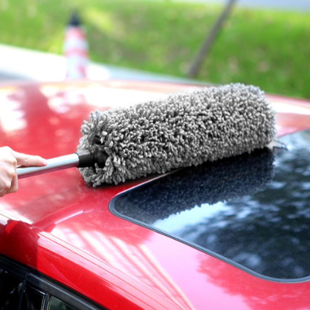클린카 차량용 길이조절 먼지털이개(그레이) [제작 대량 도매 로고 인쇄 레이저 마킹 각인 나염 실크 uv 포장 공장 문의는 네이뽕]