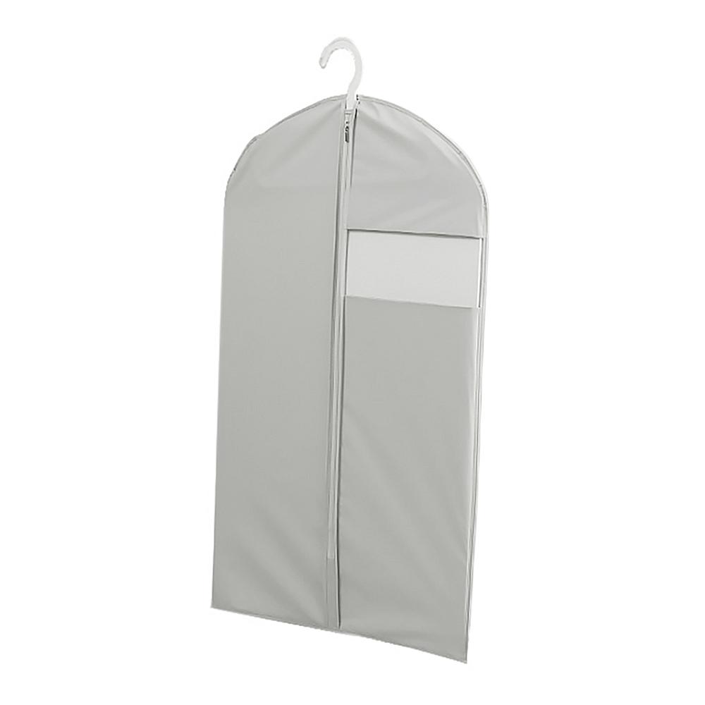 PEVA 심플 투명창 옷커버(그레이) (60x110cm) [제작 대량 도매 로고 인쇄 레이저 마킹 각인 나염 실크 uv 포장 공장 문의는 네이뽕]