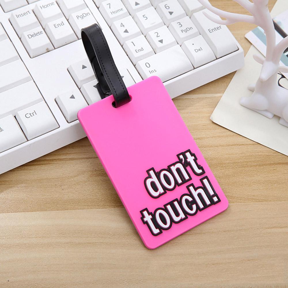 여행용 돈터치 캐리어 네임택(핑크) [제작 대량 도매 로고 인쇄 레이저 마킹 각인 나염 실크 uv 포장 공장 문의는 네이뽕]