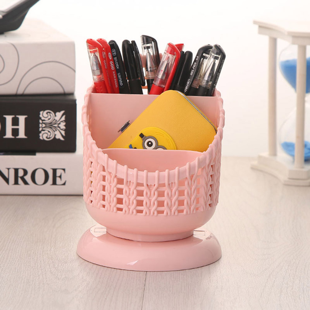 그물형 3칸 펜 꽂이(핑크) [제작 대량 도매 로고 인쇄 레이저 마킹 각인 나염 실크 uv 포장 공장 문의는 네이뽕]