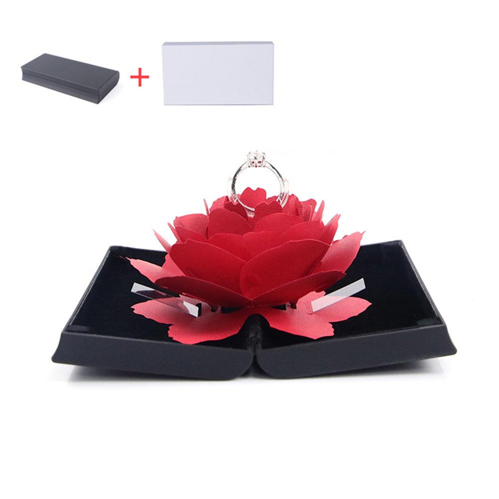 3D 로즈 반지 케이스(블랙) [제작 대량 도매 로고 인쇄 레이저 마킹 각인 나염 실크 uv 포장 공장 문의는 네이뽕]
