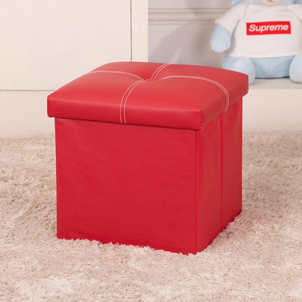 스툴스 큐브 수납 의자(레드) (30cm) [제작 대량 도매 로고 인쇄 레이저 마킹 각인 나염 실크 uv 포장 공장 문의는 네이뽕]