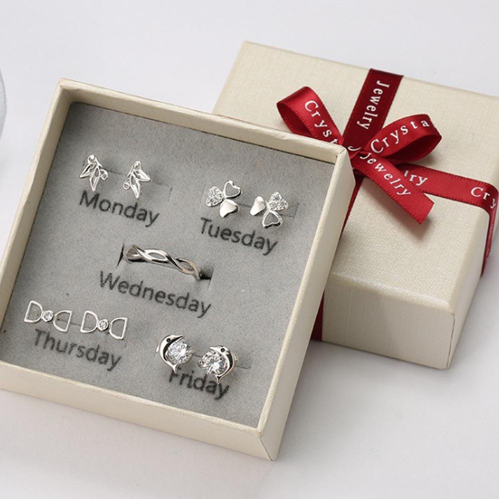 5종 귀걸이 반지 세트 YS-04 [제작 대량 도매 로고 인쇄 레이저 마킹 각인 나염 실크 uv 포장 공장 문의는 네이뽕]