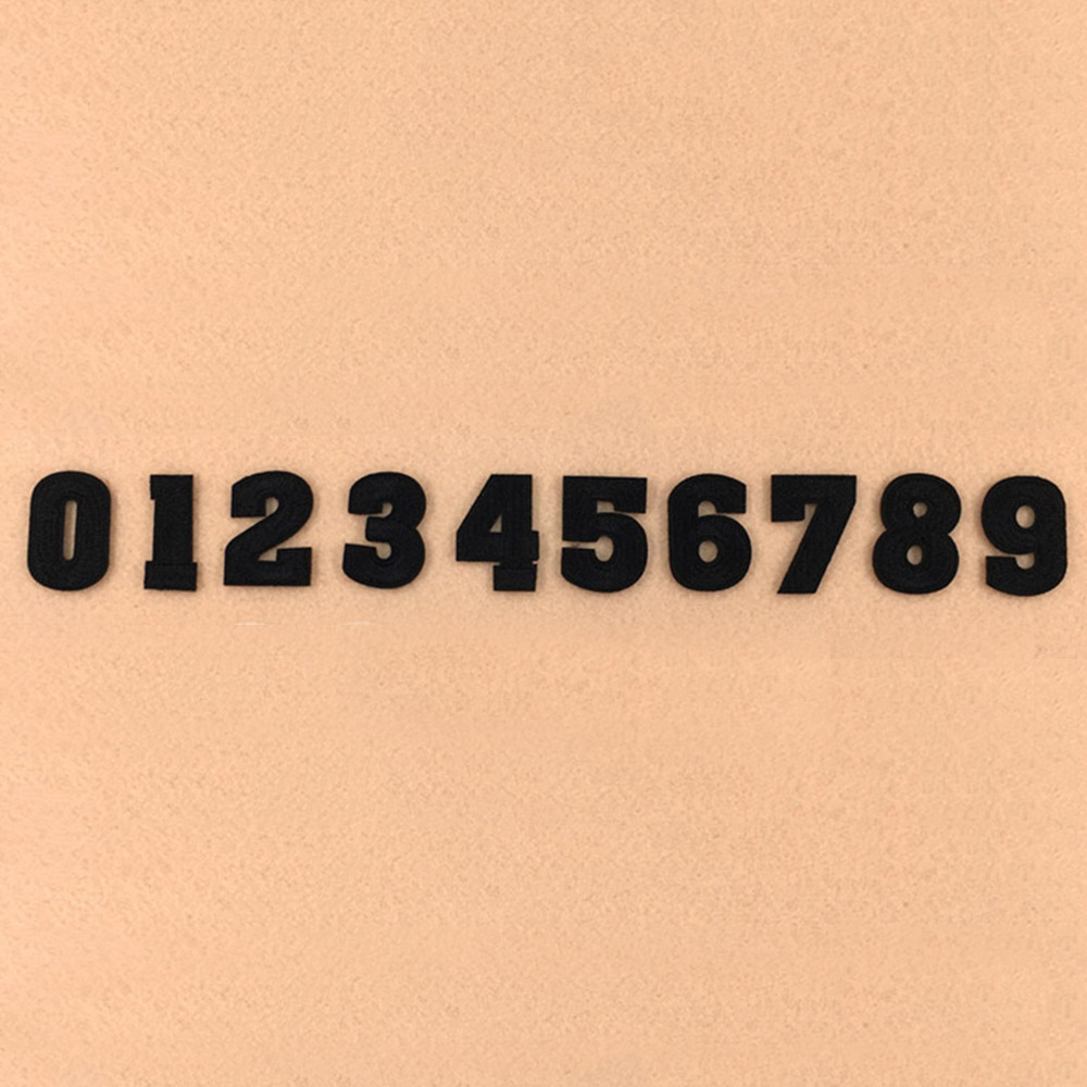 블랙 숫자 와펜세트 N-013(10종) [제작 대량 도매 로고 인쇄 레이저 마킹 각인 나염 실크 uv 포장 공장 문의는 네이뽕]