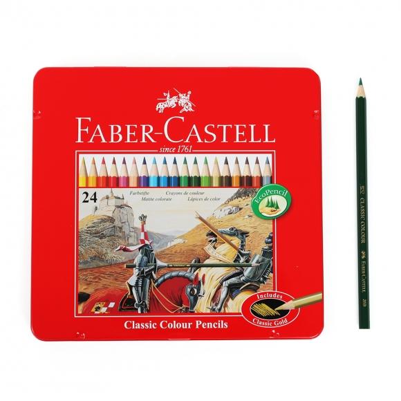 파버카스텔 24색 색연필(틴케이스)