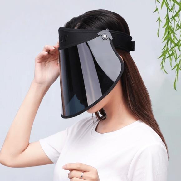 심플 자외선차단 썬캡(블랙)