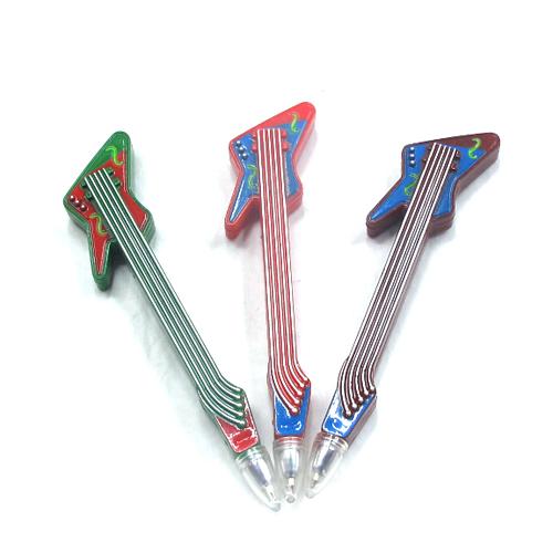 기타 팬시 볼펜(12.7cm) [제작 대량 도매 로고 인쇄 레이저 마킹 각인 나염 실크 uv 포장 공장 문의는 네이뽕]