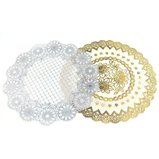 12p 꽃문양 원형 매트 러너(소) (지름 약30cm) [제작 대량 도매 로고 인쇄 레이저 마킹 각인 나염 실크 uv 포장 공장 문의는 네이뽕]