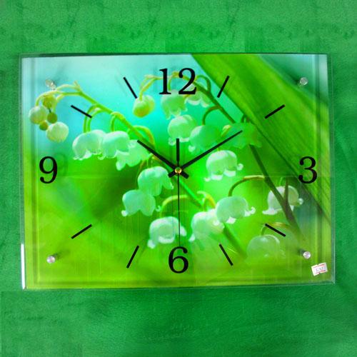 초롱꽃 그림 벽시계(40cmx30cmx2.8cm) [제작 대량 도매 로고 인쇄 레이저 마킹 각인 나염 실크 uv 포장 공장 문의는 네이뽕]