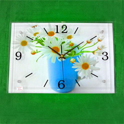 봄꽃 그림 벽시계(38cmx26cmx2.8cm) [제작 대량 도매 로고 인쇄 레이저 마킹 각인 나염 실크 uv 포장 공장 문의는 네이뽕]