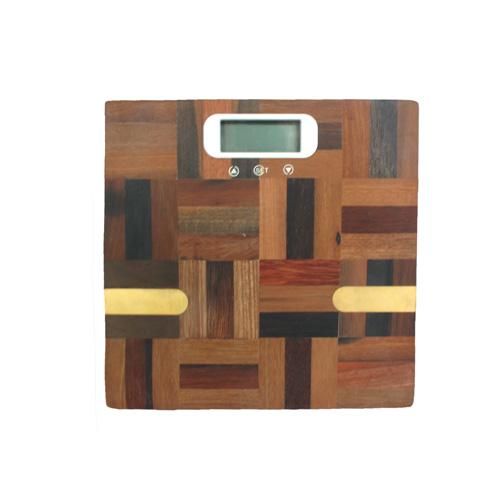 원목 격자무늬 디지털 체중계(30cmx30cmx4cm) [제작 대량 도매 로고 인쇄 레이저 마킹 각인 나염 실크 uv 포장 공장 문의는 네이뽕]