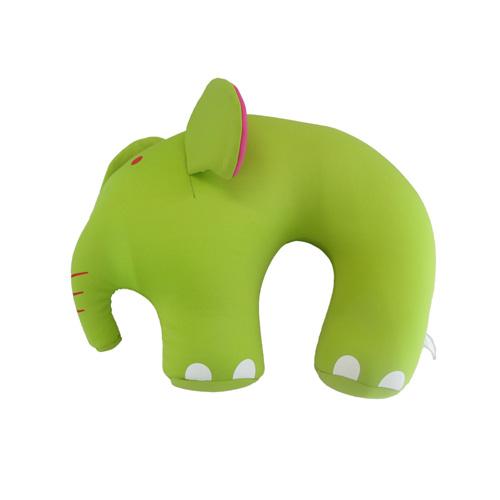 코끼리 캐릭터 목베개(30cmx32cmx10cm) [제작 대량 도매 로고 인쇄 레이저 마킹 각인 나염 실크 uv 포장 공장 문의는 네이뽕]