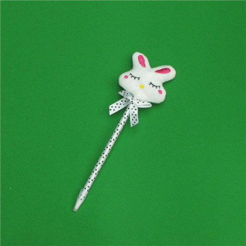 0.7mm 토끼인형 땡땡이 볼펜A(20cmx6.5cm) [제작 대량 도매 로고 인쇄 레이저 마킹 각인 나염 실크 uv 포장 공장 문의는 네이뽕]