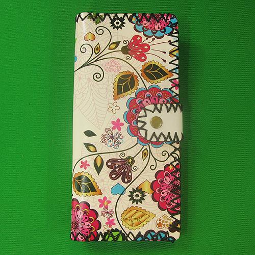 여성용 플라워 패턴 장지갑A-1(19cmx9cm) [제작 대량 도매 로고 인쇄 레이저 마킹 각인 나염 실크 uv 포장 공장 문의는 네이뽕]