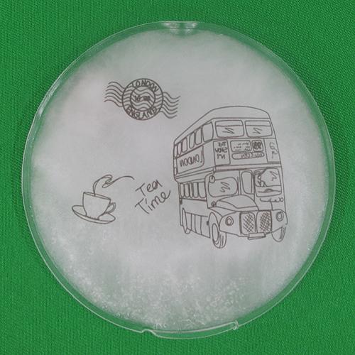 런던 버스 원형 똑딱이 손난로(10cm) [제작 대량 도매 로고 인쇄 레이저 마킹 각인 나염 실크 uv 포장 공장 문의는 네이뽕]