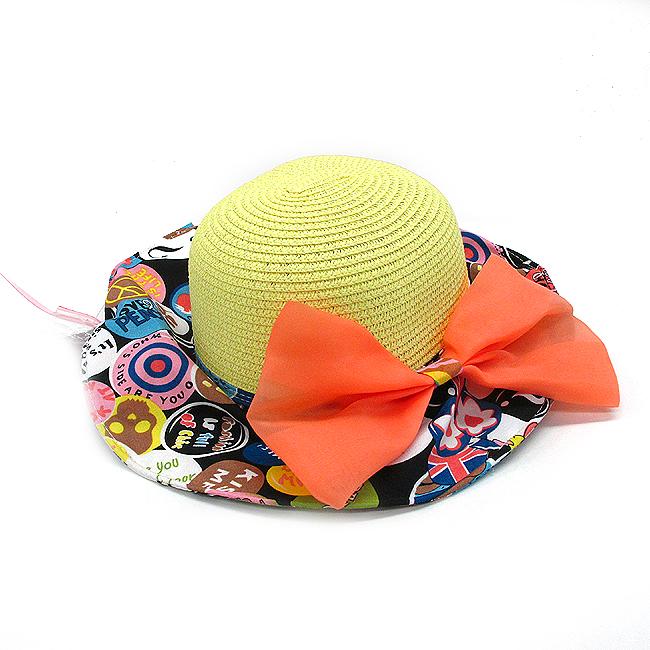 패션 와이어 나들이 밀짚 모자(37cmx18cm) [제작 대량 도매 로고 인쇄 레이저 마킹 각인 나염 실크 uv 포장 공장 문의는 네이뽕]