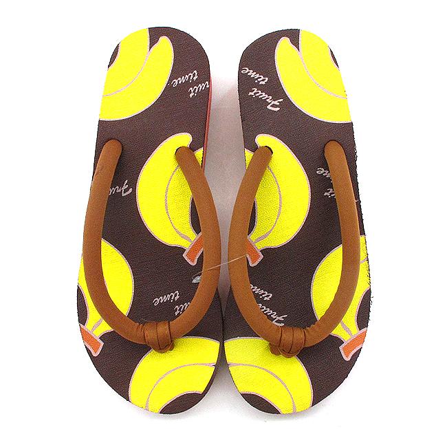 쪼리 슬리퍼 여성 굽 바나나(230mm∼240mm용(굽높이: 5cm)) [제작 대량 도매 로고 인쇄 레이저 마킹 각인 나염 실크 uv 포장 공장 문의는 네이뽕]