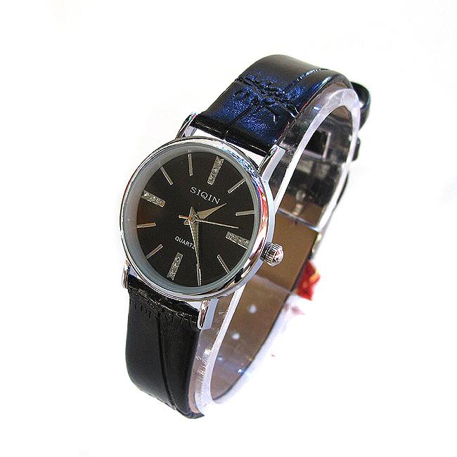 SIQIN 주얼리라인 여성 손목시계(블랙) [제작 대량 도매 로고 인쇄 레이저 마킹 각인 나염 실크 uv 포장 공장 문의는 네이뽕]