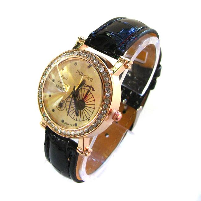 DUNKING 모던 여성 손목시계(블랙) [제작 대량 도매 로고 인쇄 레이저 마킹 각인 나염 실크 uv 포장 공장 문의는 네이뽕]