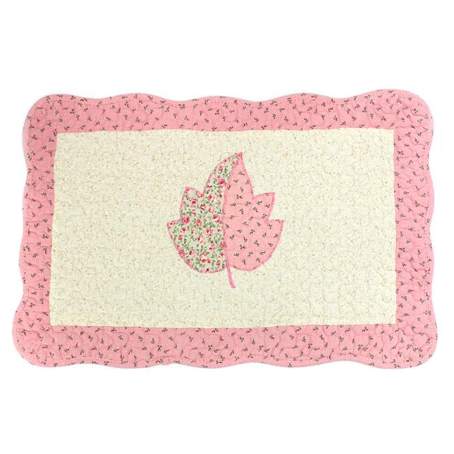 심플 리프 바닥매트(핑크) [제작 대량 도매 로고 인쇄 레이저 마킹 각인 나염 실크 uv 포장 공장 문의는 네이뽕]