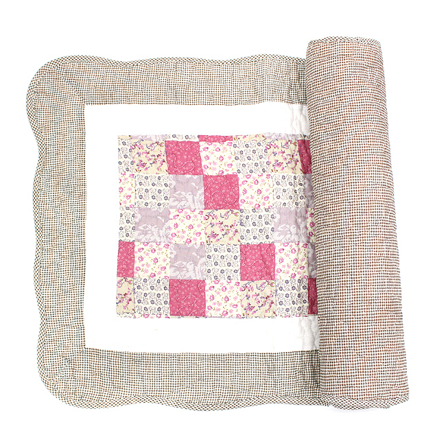 핑크 체크 바닥매트(대) [제작 대량 도매 로고 인쇄 레이저 마킹 각인 나염 실크 uv 포장 공장 문의는 네이뽕]