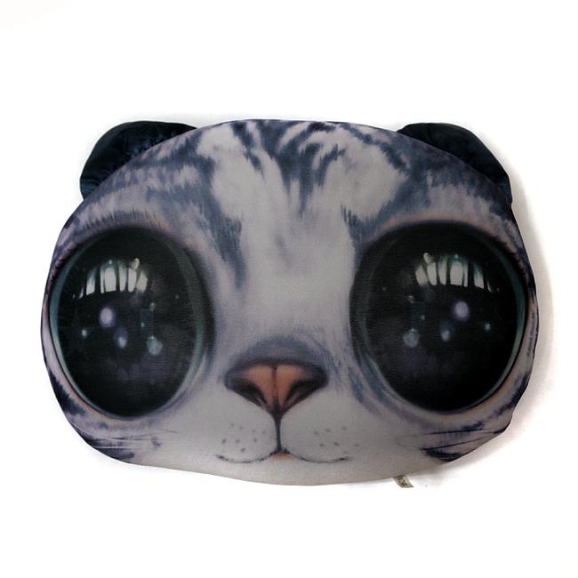 고양이 얼굴 다용도 쿠션B [제작 대량 도매 로고 인쇄 레이저 마킹 각인 나염 실크 uv 포장 공장 문의는 네이뽕]