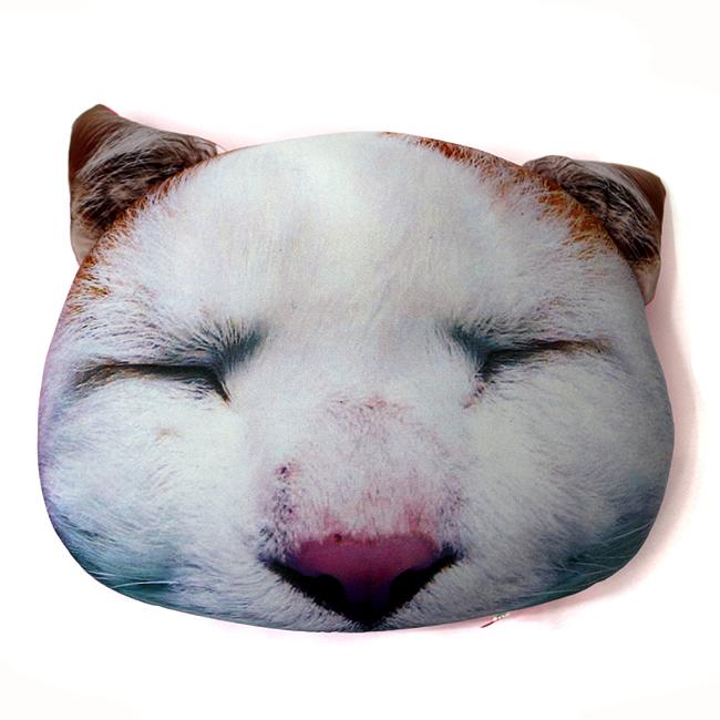 고양이 얼굴 다용도 쿠션C [제작 대량 도매 로고 인쇄 레이저 마킹 각인 나염 실크 uv 포장 공장 문의는 네이뽕]