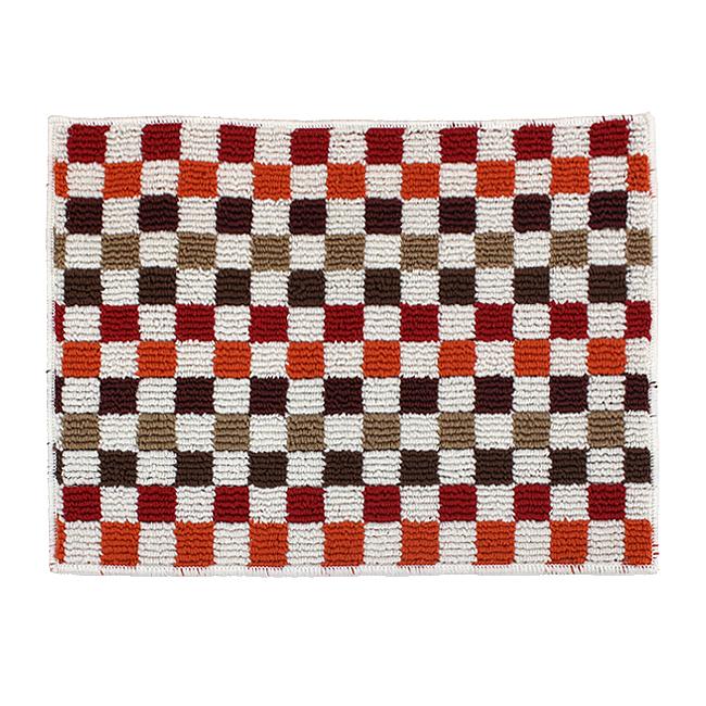 컬러 체크무늬 바닥 매트(레드) (소) [제작 대량 도매 로고 인쇄 레이저 마킹 각인 나염 실크 uv 포장 공장 문의는 네이뽕]