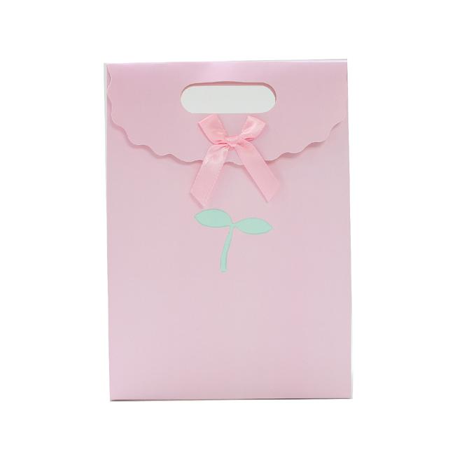 고급 파스텔 선물 쇼핑백(소) (16.5cmx12.5cmx6cm) [제작 대량 도매 로고 인쇄 레이저 마킹 각인 나염 실크 uv 포장 공장 문의는 네이뽕]