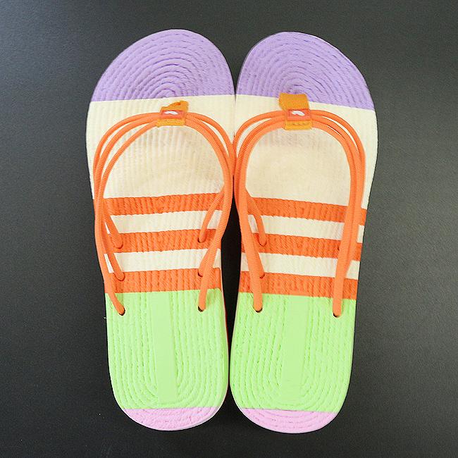 컬러 라인 패션 굽쪼리(오렌지) (230mm ∼ 250mm) [제작 대량 도매 로고 인쇄 레이저 마킹 각인 나염 실크 uv 포장 공장 문의는 네이뽕]