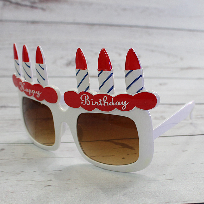 생일 케익 안경(브라운) (16cmx14cmx9.5cm) [제작 대량 도매 로고 인쇄 레이저 마킹 각인 나염 실크 uv 포장 공장 문의는 네이뽕]