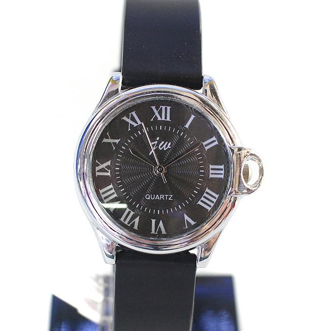 소프트밴드 여성 손목시계(블랙) (3cmx21cm) [제작 대량 도매 로고 인쇄 레이저 마킹 각인 나염 실크 uv 포장 공장 문의는 네이뽕]