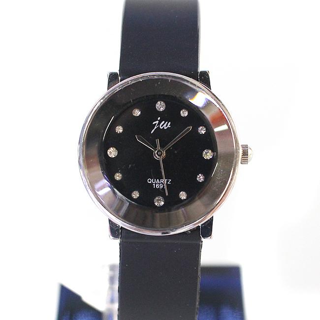 블랙 큐빅 여성 손목시계(3cmx21cm) [제작 대량 도매 로고 인쇄 레이저 마킹 각인 나염 실크 uv 포장 공장 문의는 네이뽕]