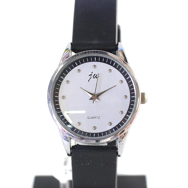 블랙 서클 라인 여성 손목시계(3cmx21cm) [제작 대량 도매 로고 인쇄 레이저 마킹 각인 나염 실크 uv 포장 공장 문의는 네이뽕]