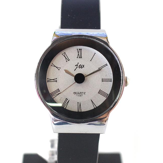 블랙 서클 여성 손목시계(3.3cmx21cm) [제작 대량 도매 로고 인쇄 레이저 마킹 각인 나염 실크 uv 포장 공장 문의는 네이뽕]